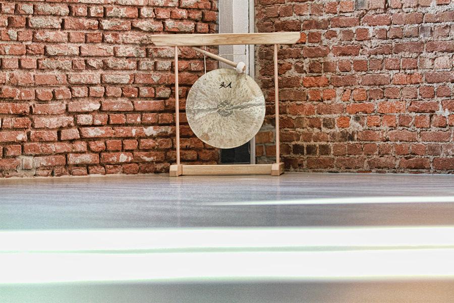 Foto von unserem Gong in der Health Base von Punkt Balance