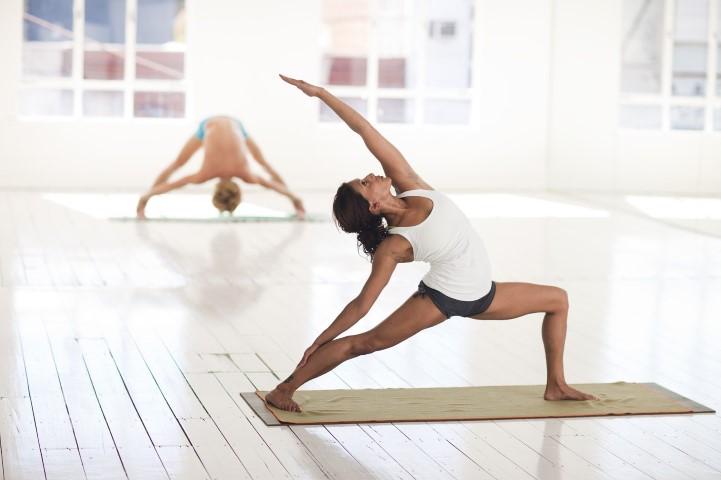 Yoga Chemnitz - Variante der Kriegerposition